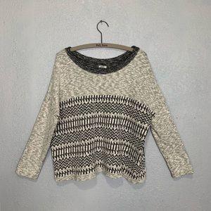 Ecote' Boho tribal knit oversized cozy sweater